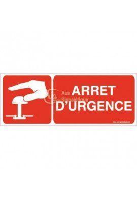 Panneau Arrêt D'urgence Horizontal