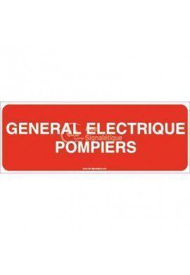 Panneau Général Electrique Pompiers