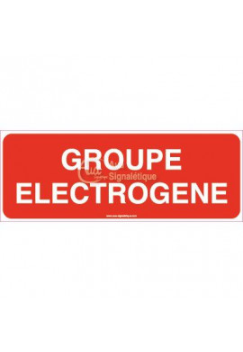 Panneau Groupe Electrogène
