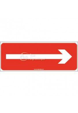 Panneau flèche droite rouge