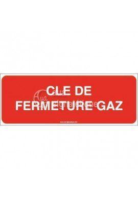 Panneau Clé de Fermeture Gaz - Texte
