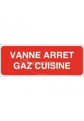Panneau Vanne Arret Gaz Cuisine