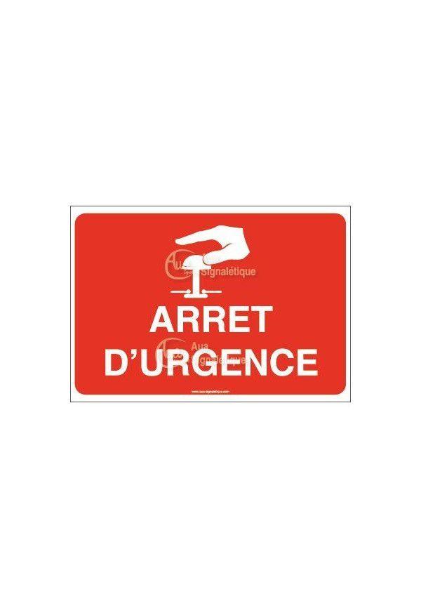 Panneau Arrêt d'urgence avec picto