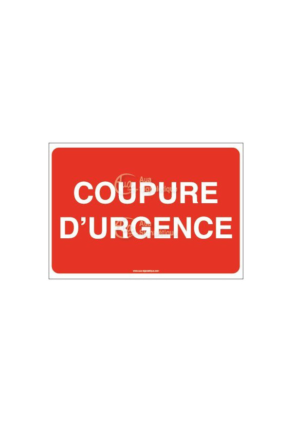 Panneau Coupure d'urgence 02