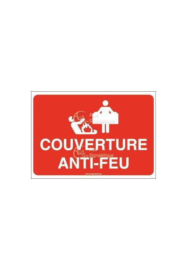Panneau Couverture anti-feu avec picto