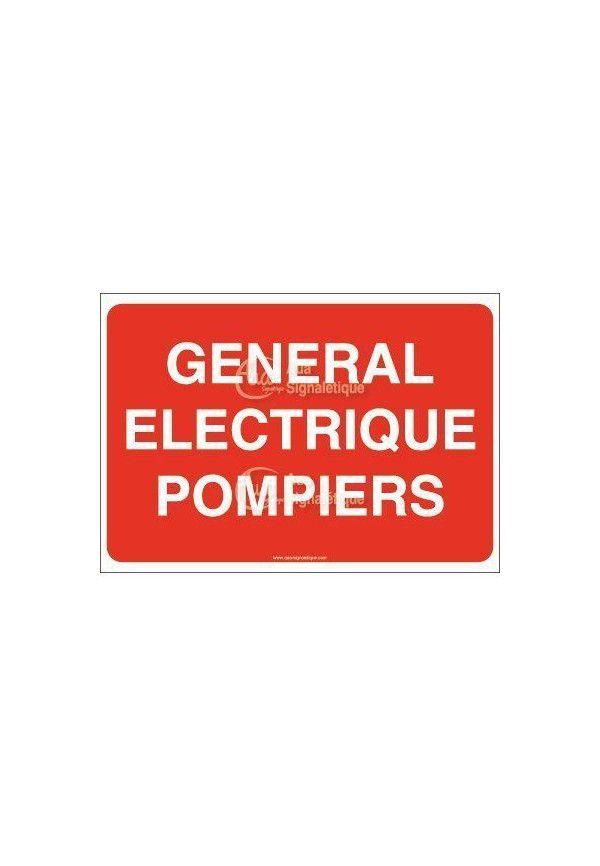 Panneau Général électrique pompiers
