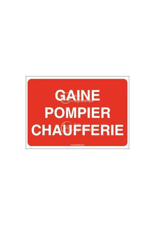 Panneau Gaine pompier chaufferie