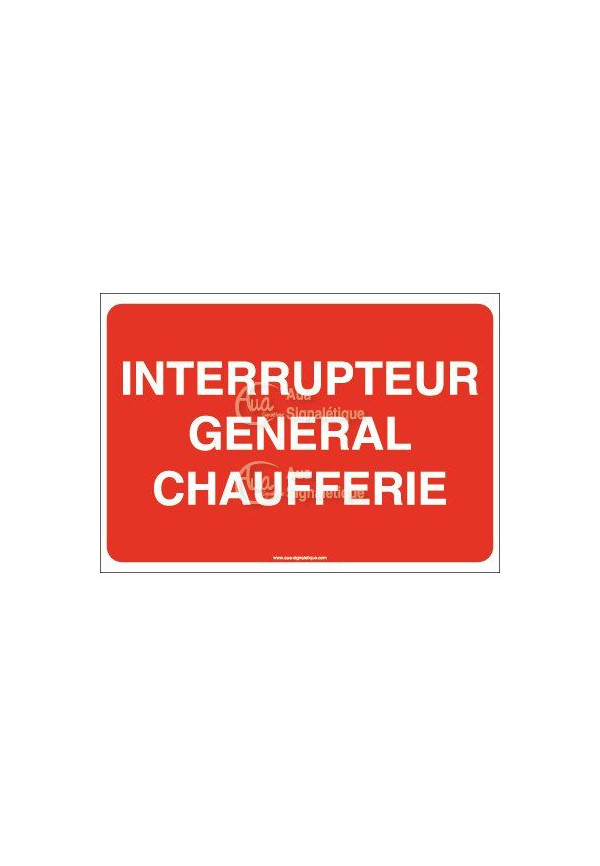 Panneau Interrupteur général chaufferie