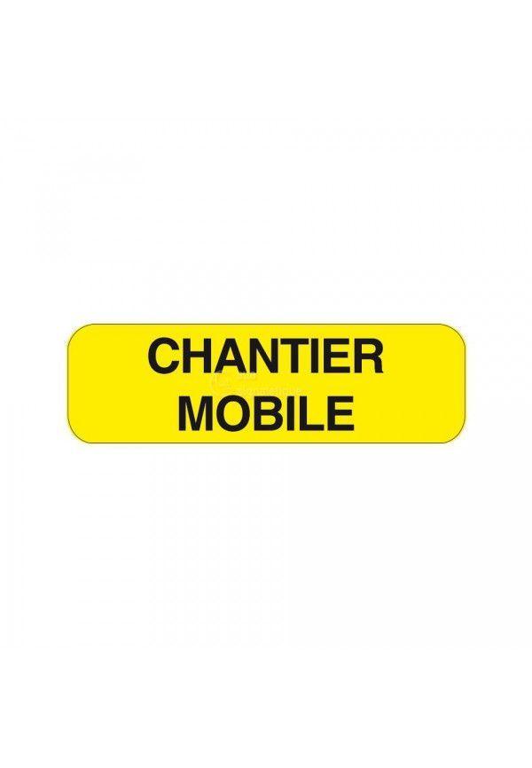 Panonceau Chantier mobiler KM9-7