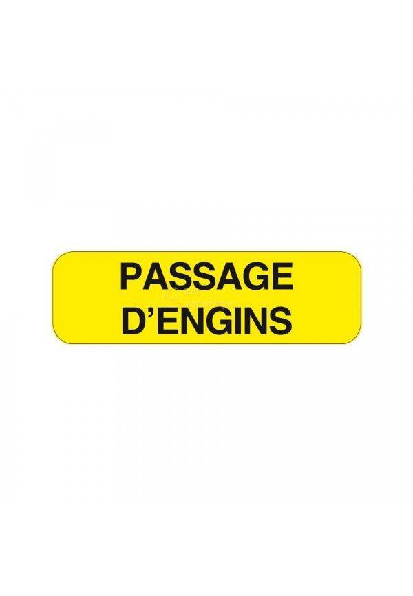 Panonceau Passage d'engins KM9-16
