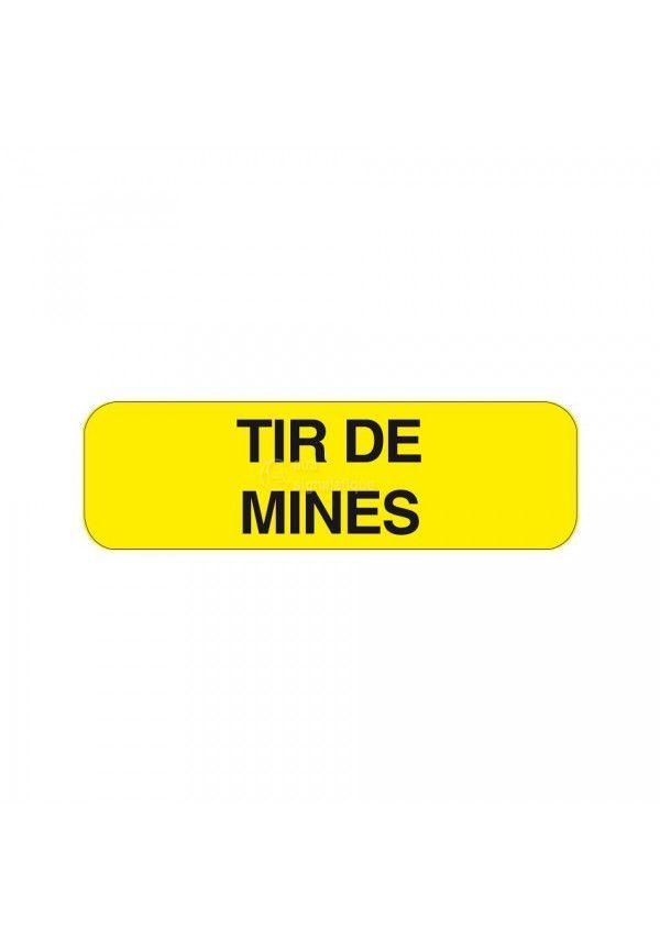 Panonceau Tir de mines KM9-23