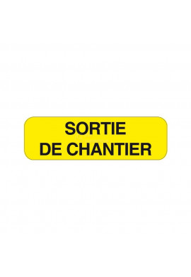 Panonceau Sortie de Chantier KM9-27