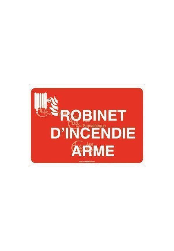 Panneau Robinet d'incendie arme