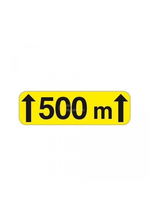 Panonceau sur 500m - KM2-1