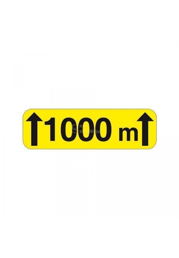 Panonceau sur 1000m - KM2-2