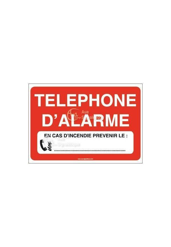 Panneau Téléphone d'alarme n°