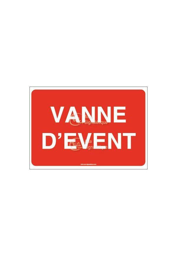 Panneau Vanne d'event