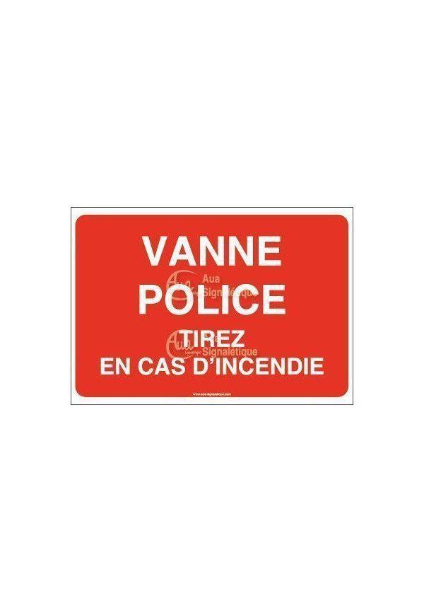 Panneau Vanne police