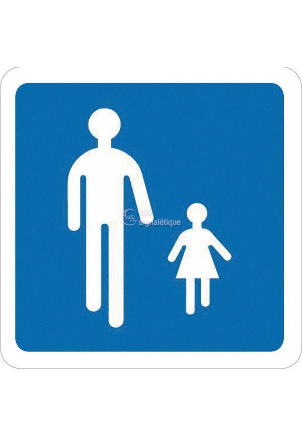 Panneau Chemin obligatoire pour piétons - B54