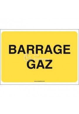 Panneau Barrage gaz