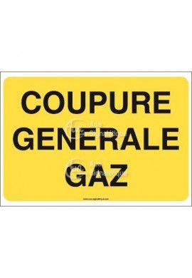 Panneau Coupure générale gaz