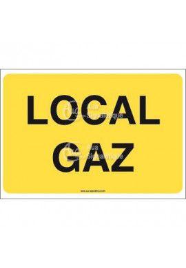 Panneau Local gaz