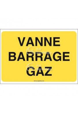 Panneau Vanne barrage gaz