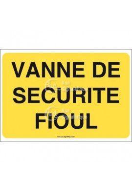 Panneau Vanne de sécurité fioul