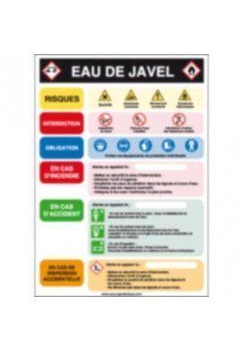 Consignes produit Eau de javel