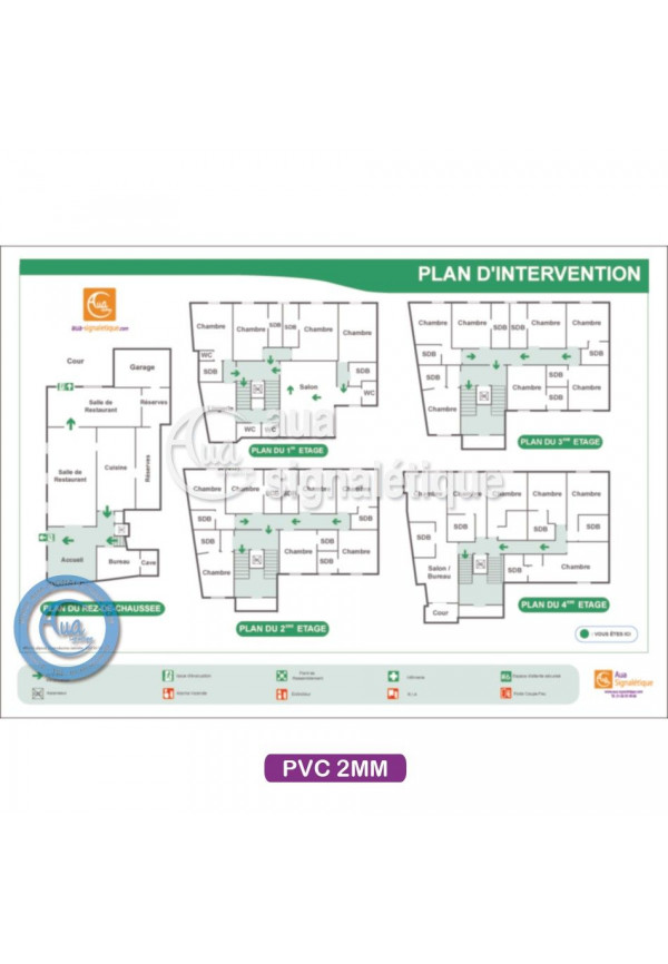 Plan d'intervention PVC Blanc 2mm