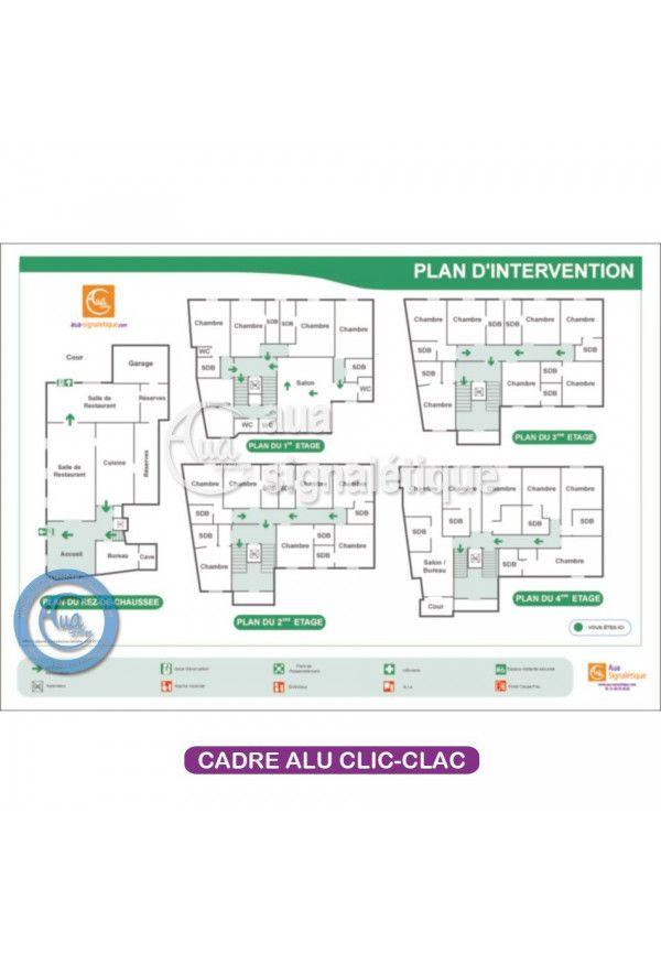 Plan d'intervention Avec Cadre Aluminium clic-clac