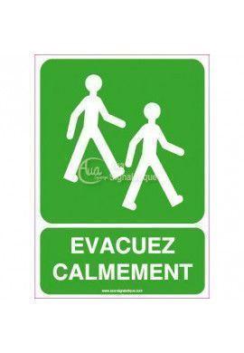 Panneau Evacuez Calmement 03