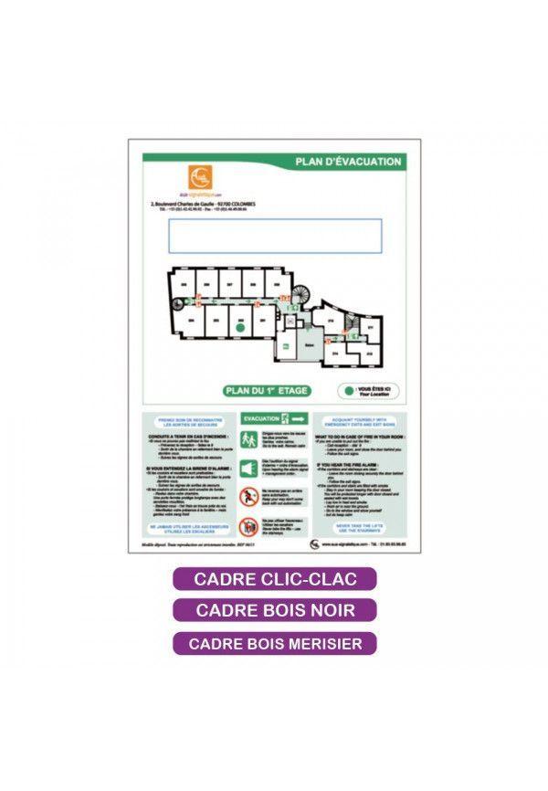 Plan d'évacuation + Consignes + Insertion tarif - A4