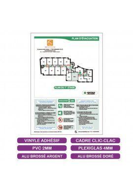Plan d'évacuation + Consignes - A4