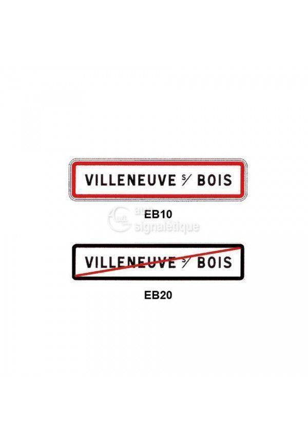 Panneau sortie d'agglomération EB20