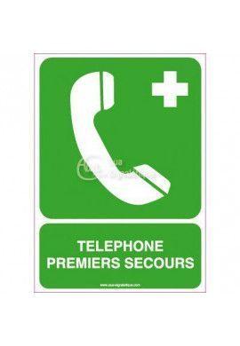 Panneau Téléphone Premiers Secours
