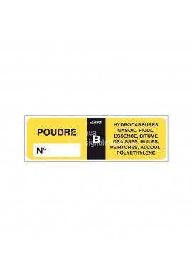 Etiquettes Extincteur poudre B