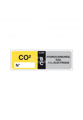 Etiquettes Extincteur CO2 BC