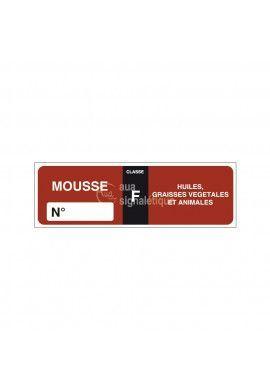 Etiquettes Extincteur Mousse F