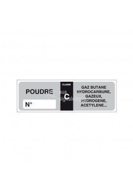 Etiquettes Extincteur poudre C