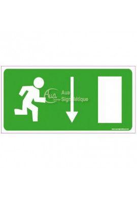 Panneau Direction de sortie, vers le bas à droite - C