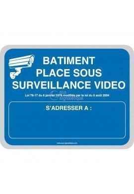 Batiment placé sous surveillance vidéo