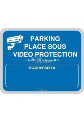 Parking placé sous vidéo protection