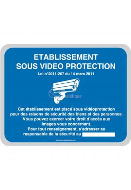 Etablissement sous vidéo protection