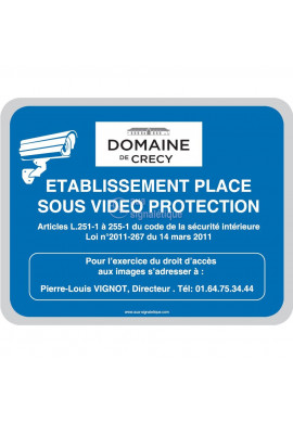 Vidéo protection, logo personnalisable
