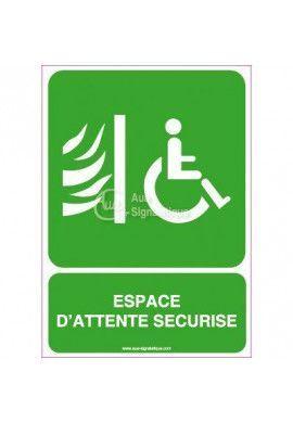 Panneau Espace d'Attente Sécurisé Vertical