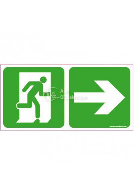 Panneau direction de sortie, vers la droite