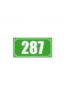 Numéro de maison - 200x100 mm