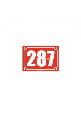 Numéro de maison - 150x105 mm