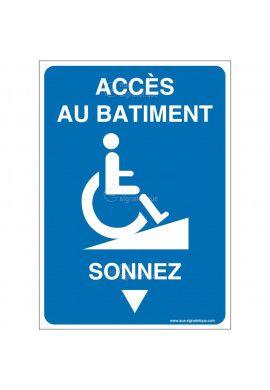 Panneau Accès au bâtiment - Sonnez-AI
